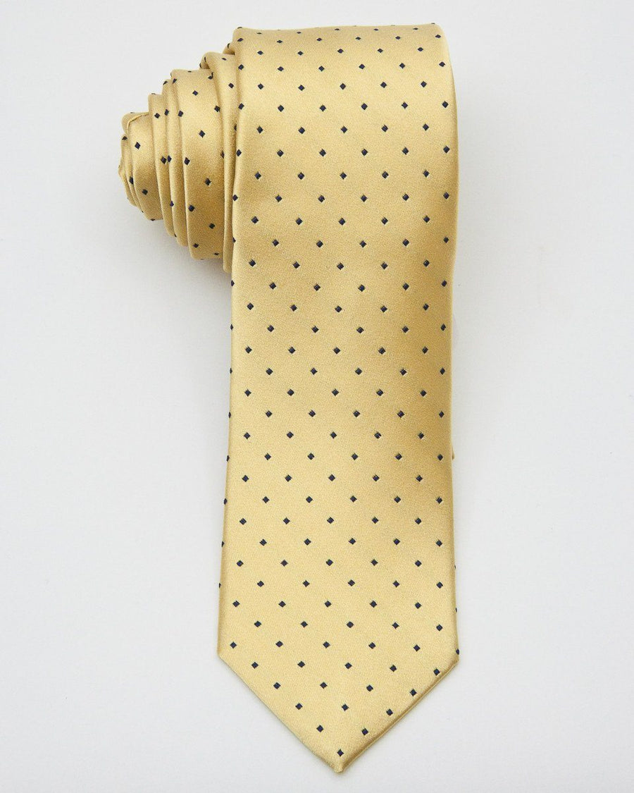 Boy's Tie 20640 Yellow/Navy Boys Tie Heritage House