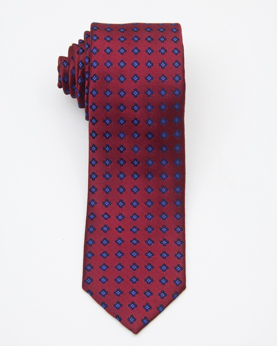 Boy's Tie 20672 Red/Navy