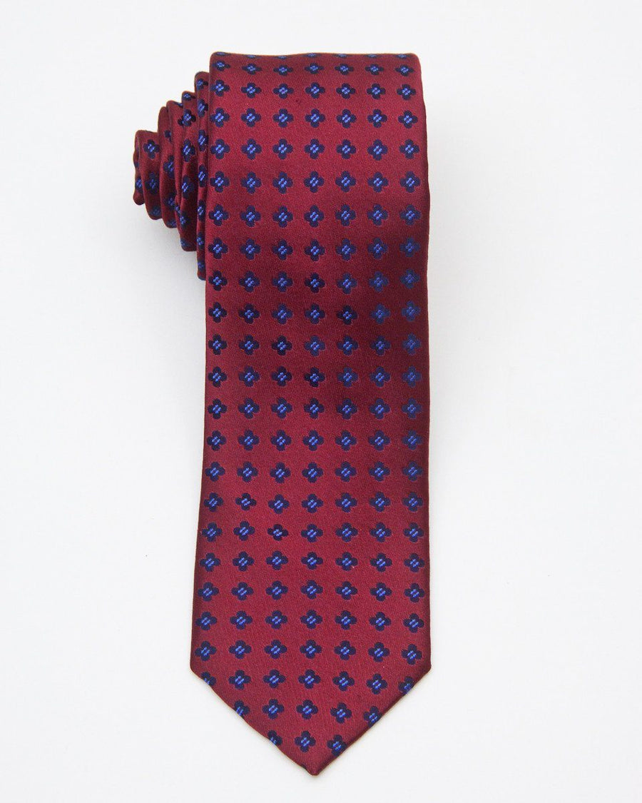 Boy's Tie 20672 Red/Navy Boys Tie Heritage House