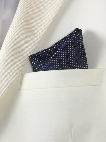 Boy's Pocket Square 20738 Navy Neat Boys Pocket Square Heritage House