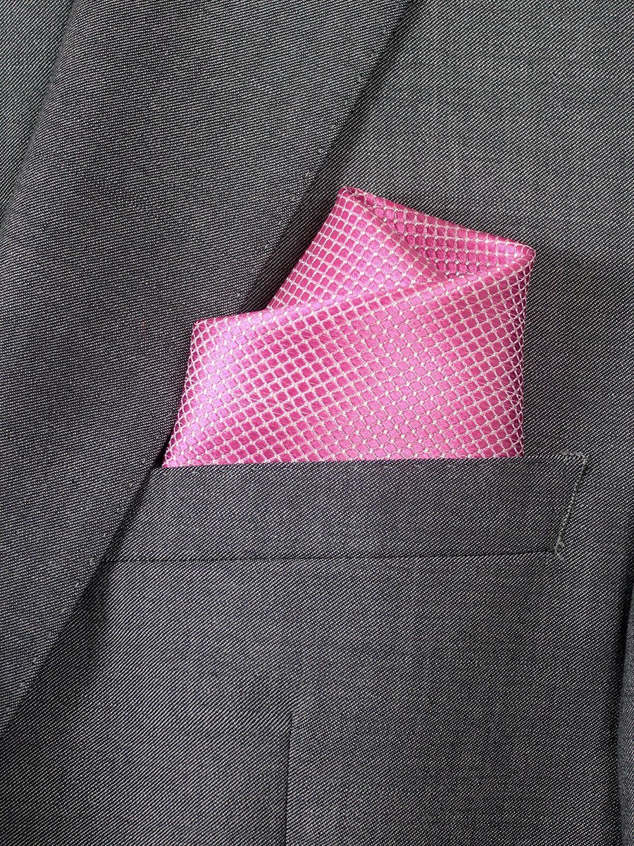 Boy's Pocket Square 20739 Pink Neat