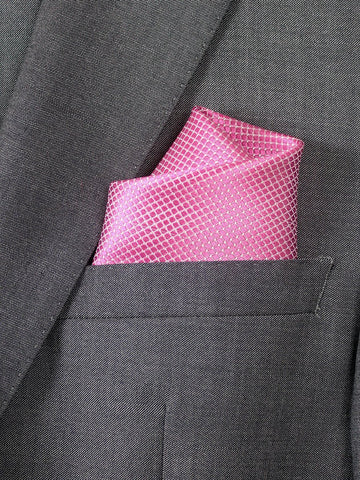 Boy's Pocket Square 20739 Pink Neat Boys Pocket Square Heritage House