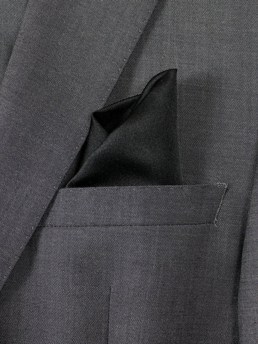 Boy's Pocket Square 20740 Black Solid