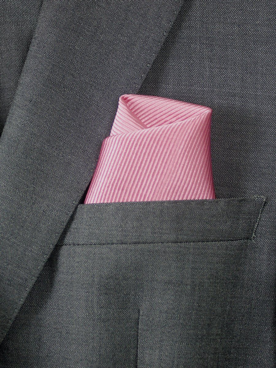 Boy's Pocket Square 20741 Pink Tonal