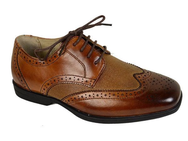 Florsheim 20874 Leather with man-made Boy's Shoes - Wingtip - Cognac, Leather Lining