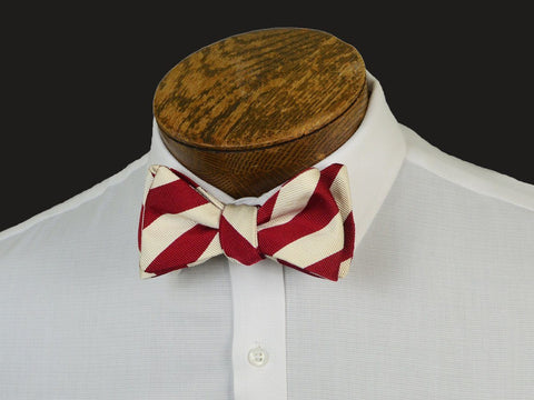 Boy's Bow Tie 20900 Red/White Stripe Boys Bow Tie High Cotton