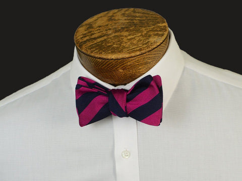 Boy's Bow Tie 20901 Pink/Navy Stripe Boys Bow Tie High Cotton