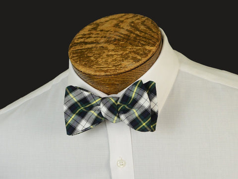Boy's Bow Tie 20903 Grey/Green Plaid Boys Bow Tie High Cotton
