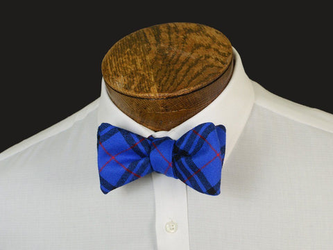 Boy's Bow Tie 20905 Blue/Red Plaid Boys Bow Tie High Cotton