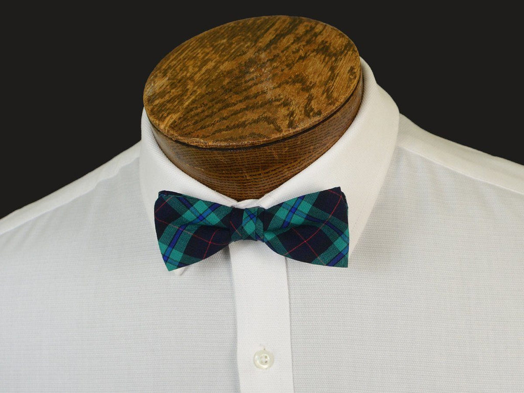 Boy's Bow Tie 20907 Green/Navy Plaid Boys Bow Tie High Cotton