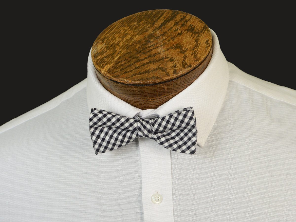 Boy's Bow Tie 20908 Black/White Gingham Check
