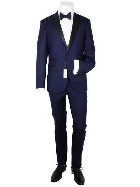 Maxman 20967 100% Wool Young Men's Tuxedo - Solid - Blue