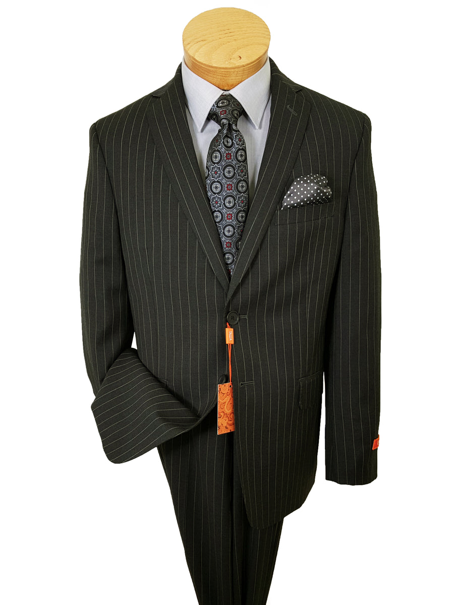 Tallia 21027 100% Wool Boy's Suit - Pinstripe - Charcoal
