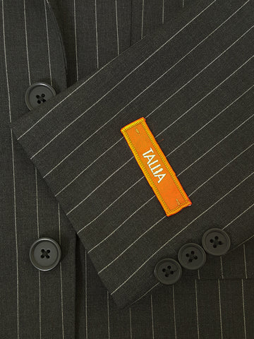 Image of Tallia 21027 100% Wool Boy's Suit - Pinstripe - Charcoal