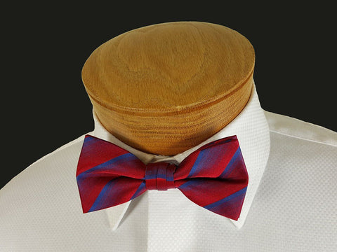 Boy's Bow Tie 21127 Red/Blue Stripe Boys Bow Tie Heritage House