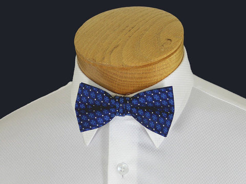 Boy's Bow Tie 21130 Blue/Navy Neat Boys Bow Tie Heritage House