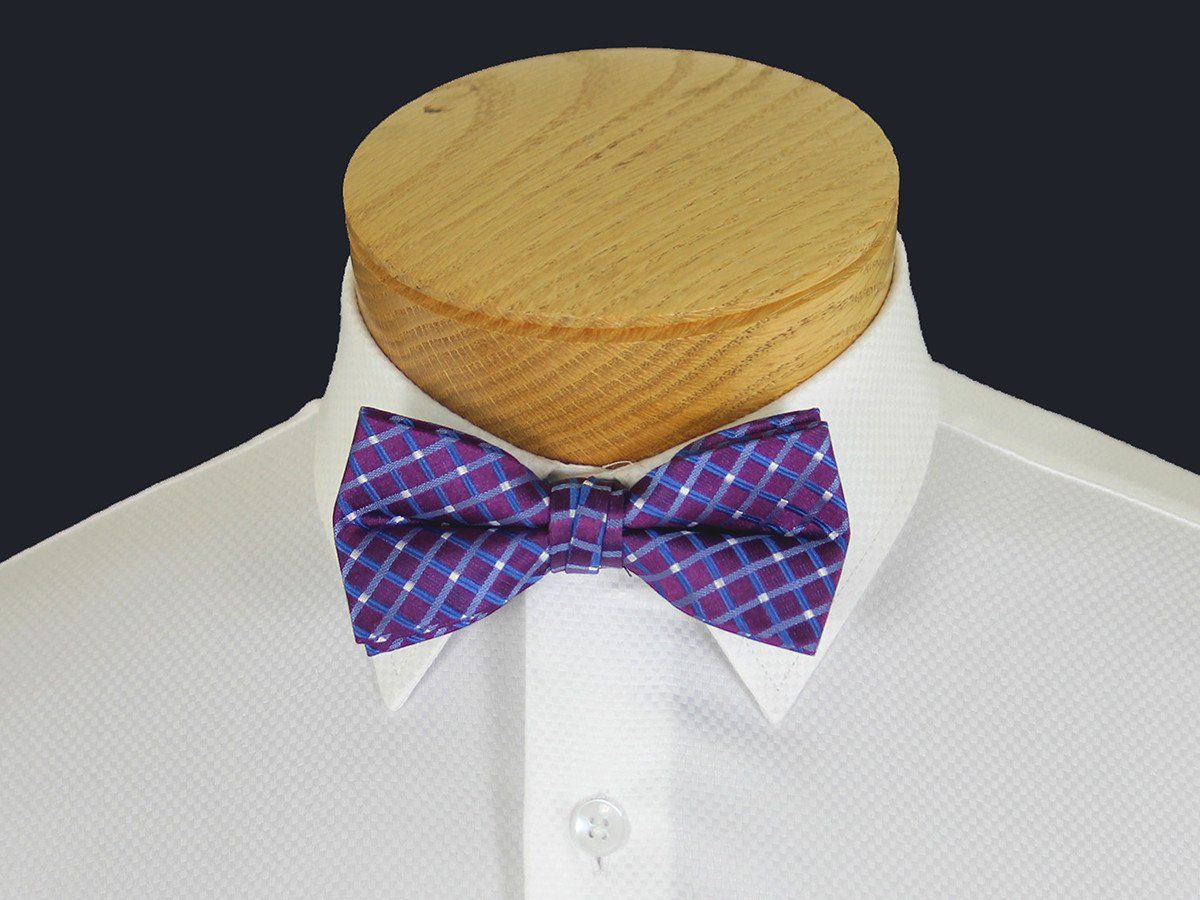 Boy's Bow Tie 21131 Purple/Blue Plaid