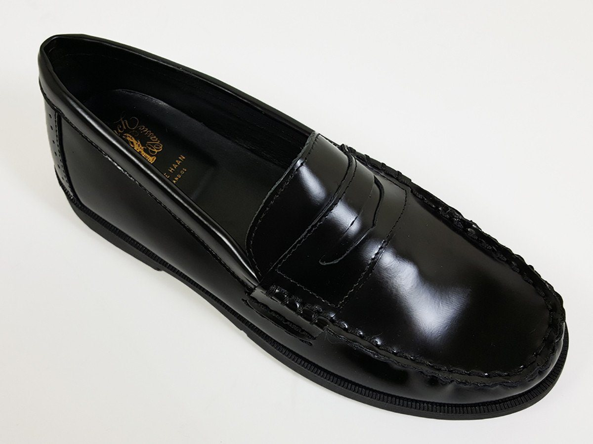 Cole Haan 21139 100% leather Boy's Shoes - Penny Loafer - Black, Slip-On