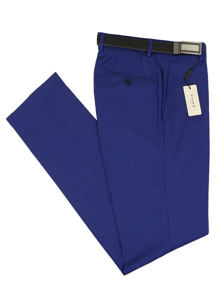 Trend by Maxman 21183P 100% Tropical Worsted 140 Wool Suit Separate - Pant - Solid Gab - French Blue