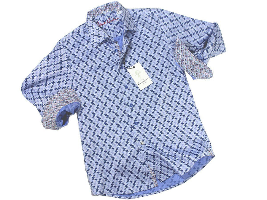 Boy's Sport Shirt 21283 Diamond Print Boys Sport Shirt Robert Graham