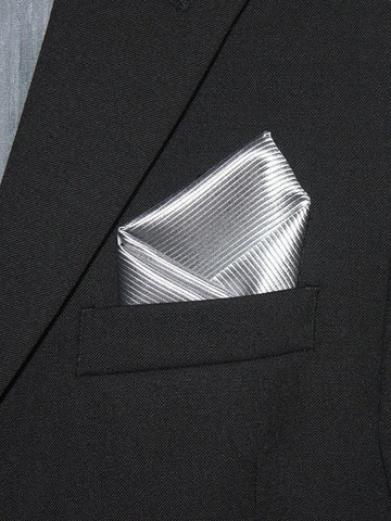 Boy's Pocket Square 21329 Silver Tonal Boys Pocket Square Heritage House