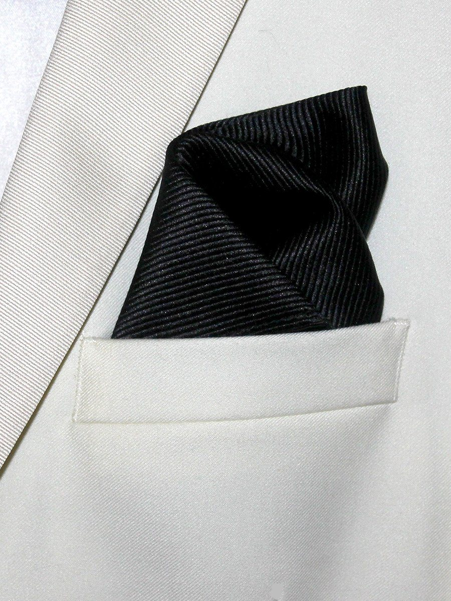 Boy's Pocket Square 21330 Black Tonal Boys Pocket Square Heritage House