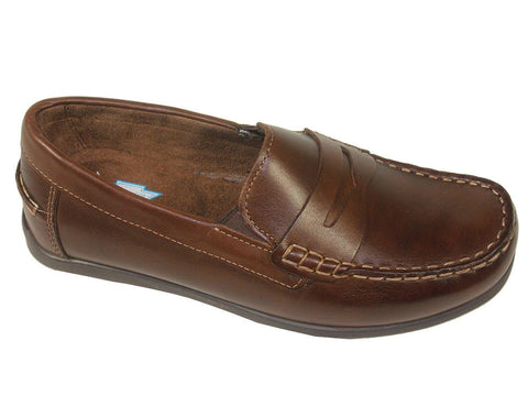 Florsheim 21370 Leather Boy's Shoe - Penny Driver - Brown Boys Shoes Florsheim