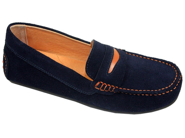 Boy's Dress Shoe 21393 Blue Suede from