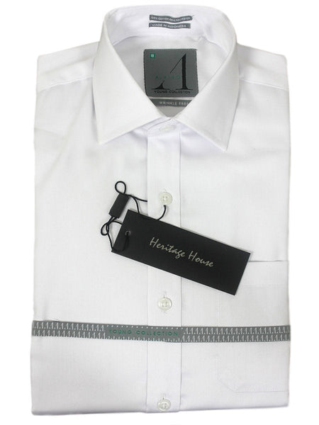 Alviso Boys Dress Shirt | Classic Fit | 1 Pocket | White