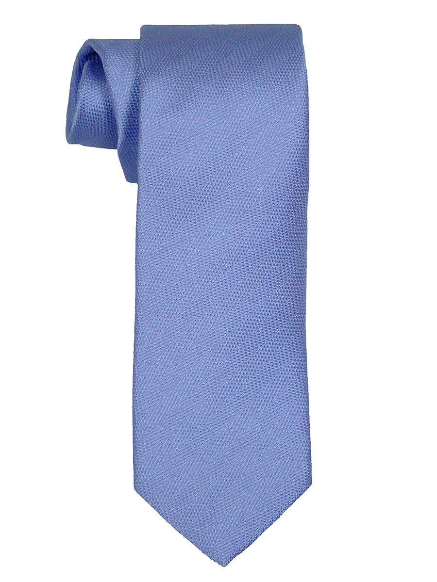 Heritage House 21471 100% Woven Silk Boy's Tie - Tonal Solid - Blue