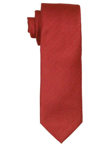 Heritage House 21475 100% Woven Silk Boy's Tie - Tonal Solid - Red Boys Tie Heritage House