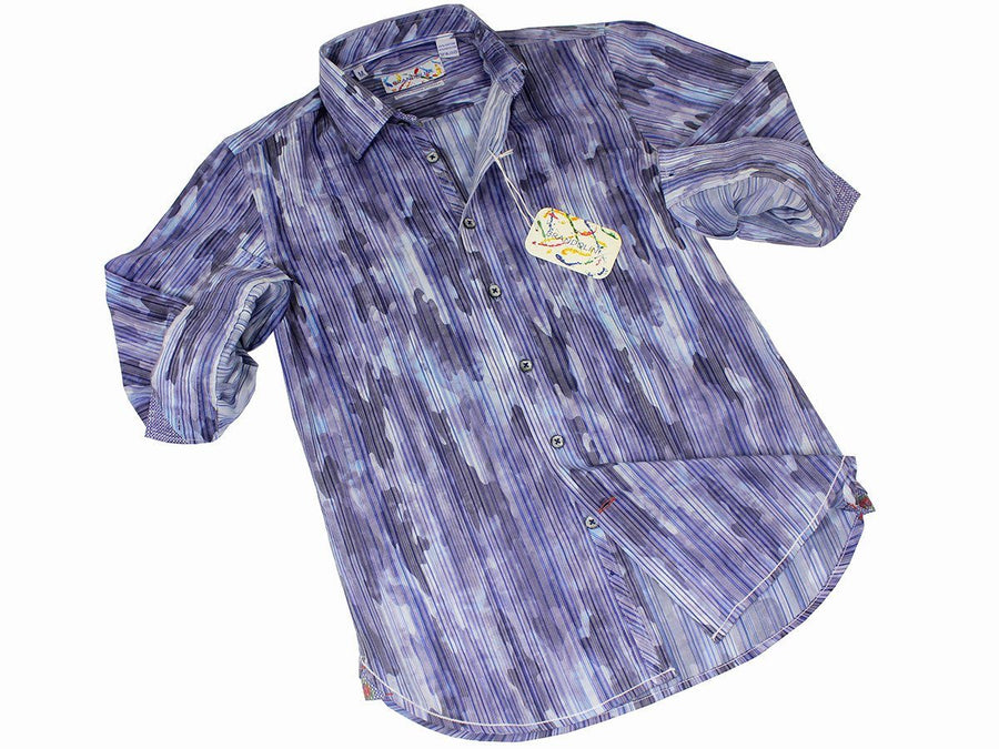 Boy's Sport Shirt 21508 Blue Boys Sport Shirt Brandolini