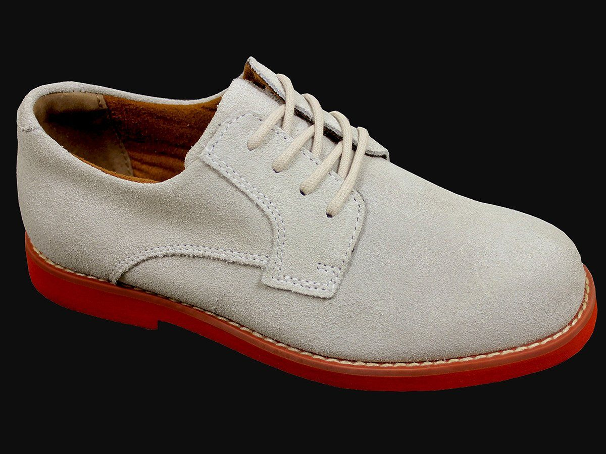 Florsheim 21550 Suede Boy's Shoe - Nubuck Oxford - White