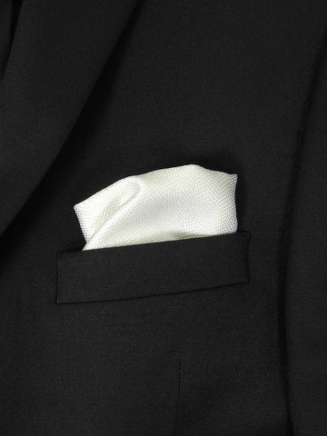 Boy's Pocket Square 21579 White Tonal Solid Boys Pocket Square Heritage House