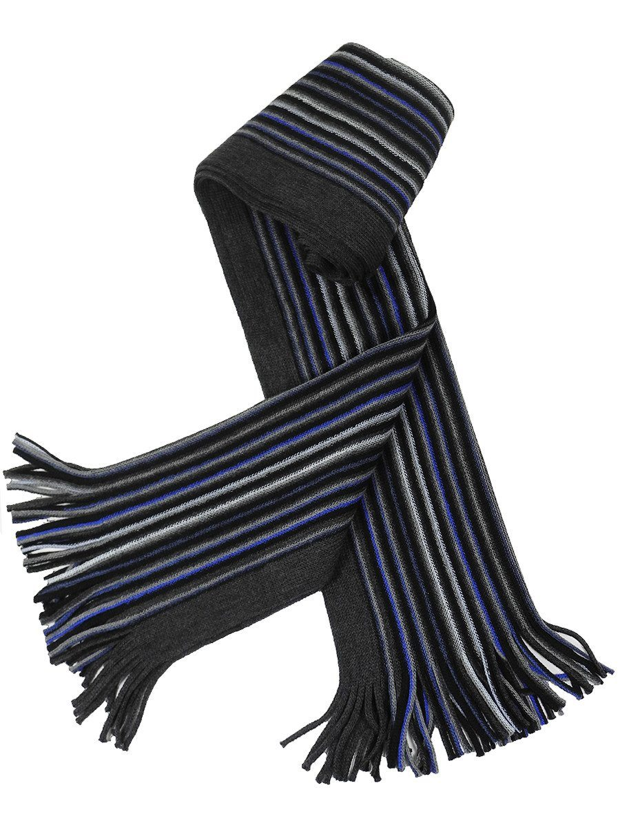 Young Men's Scarf 21607 Grey/Blue/Black