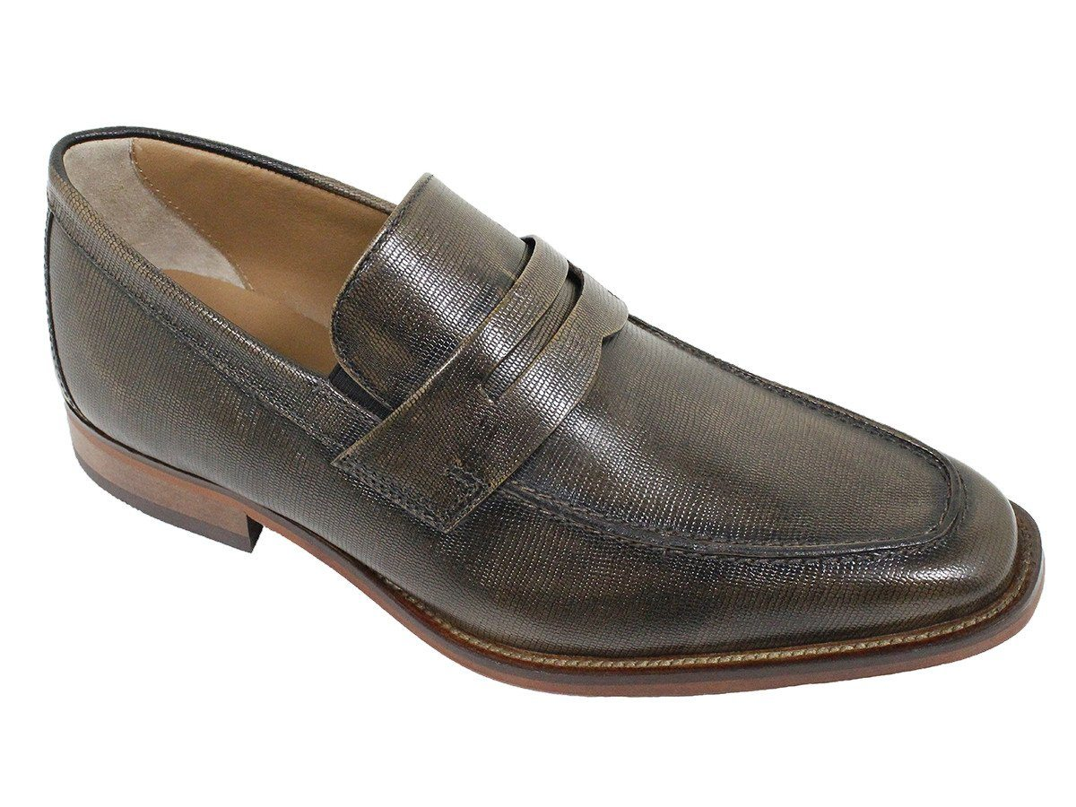 Florsheim 21611 Full-Grain Leather Boy's Shoe - Penny Loafer - Bronze