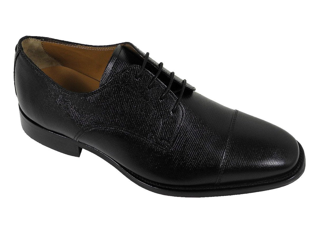 Florsheim 21618 Full-Grain Leather Boy's Shoe - Cap Toe - Ebony