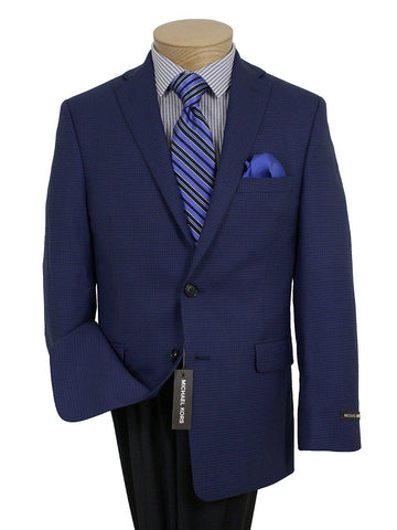 Image of Boy's Sport Coat 21655 Blue Houndstooth Boys Sport Coat Michael Kors