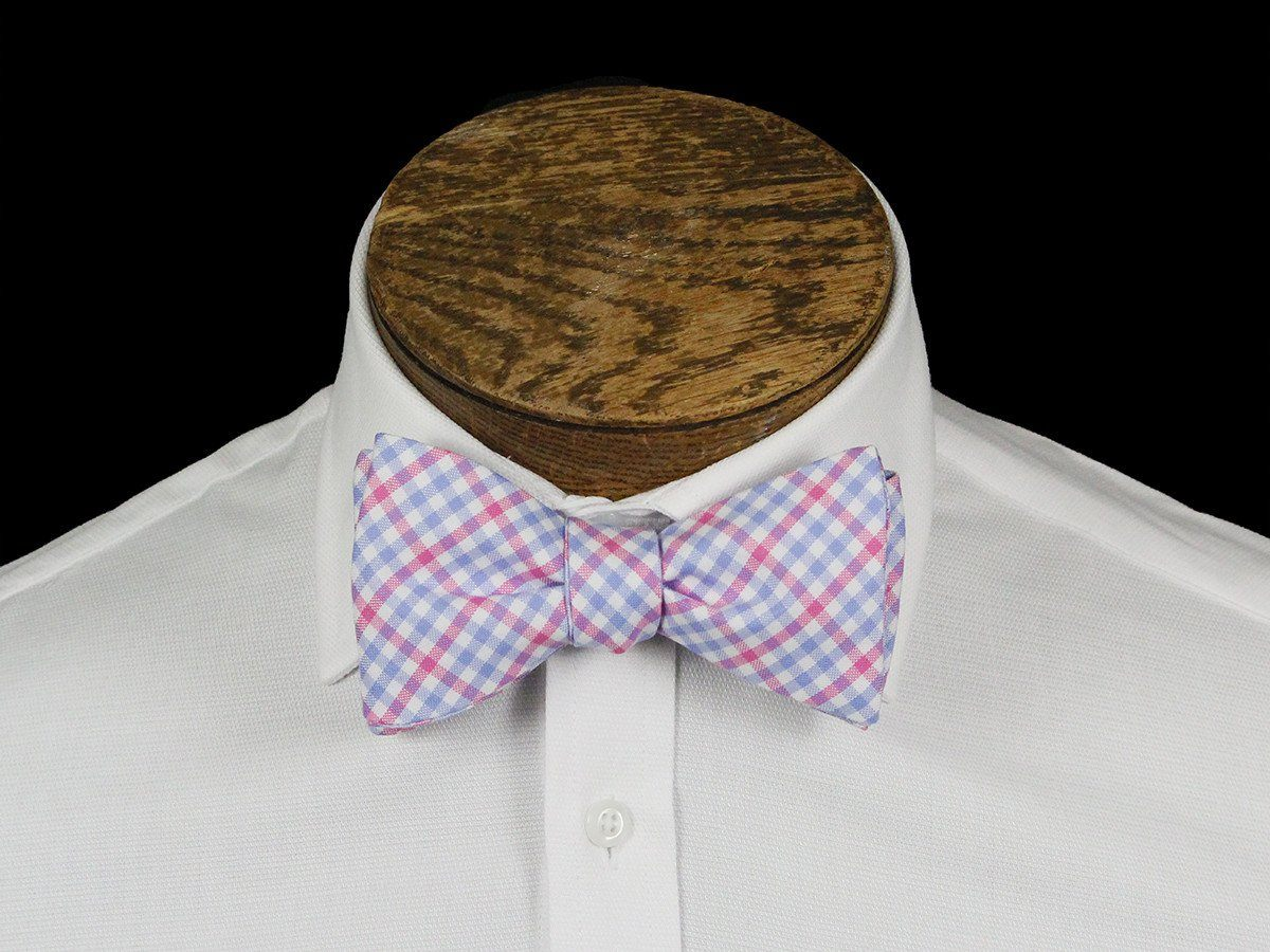 Boy's Bow Tie 21663 Pink/Blue Check