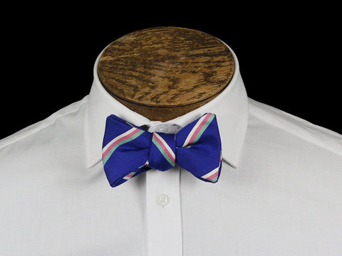 Boy's Bow Tie 21665 Blue Stripe Boys Bow Tie High Cotton
