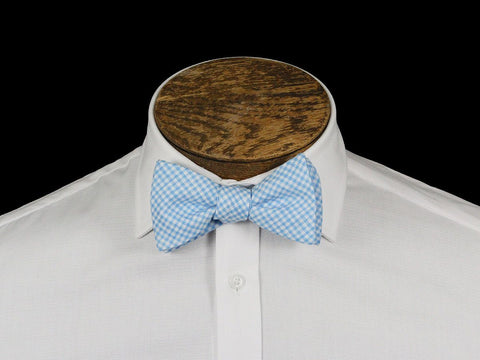 Boy's Bow Tie 21668 Blue/White Check Boys Bow Tie High Cotton