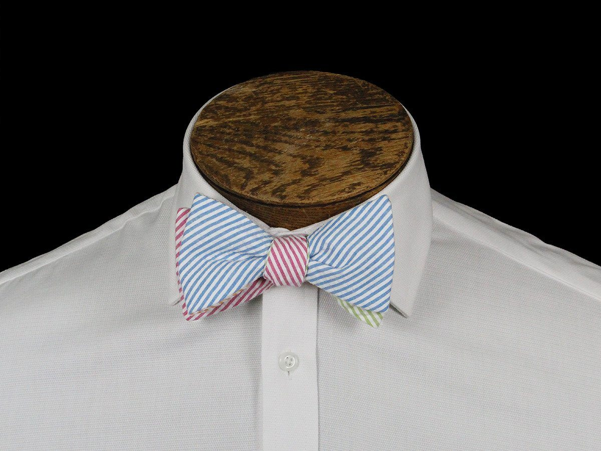 Boy's Bow Tie 21669 Multi-color Seer Sucker Stripe