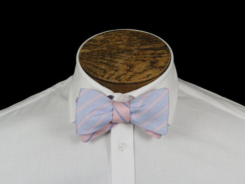 Boy's Bow Tie 21671 Pink/Blue Stripe Boys Bow Tie High Cotton