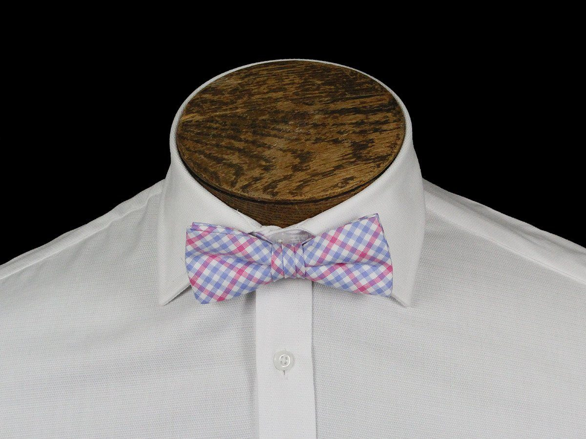 Boy's Bow Tie 21672 Pink/Blue Check