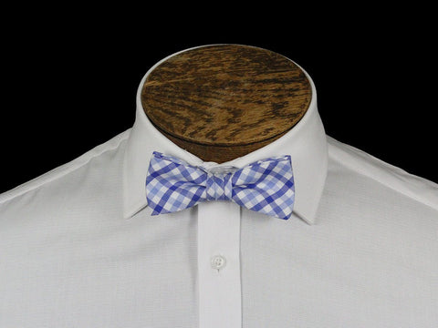 Boy's Bow Tie 21675 Blue/White Check Boys Bow Tie High Cotton