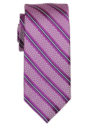 Heritage House 21787 100% Woven Silk Boy's Tie - Stripe - Pink Boys Tie Heritage House