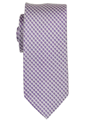 Heritage House 21819 100% Woven Silk Boy's Tie - Neat - Lilac/White Boys Tie Heritage House