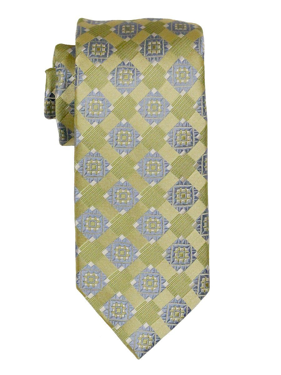 Heritage House 21835 100% Woven Silk Boy's Tie - Neat - Green/Blue Boys Tie Heritage House