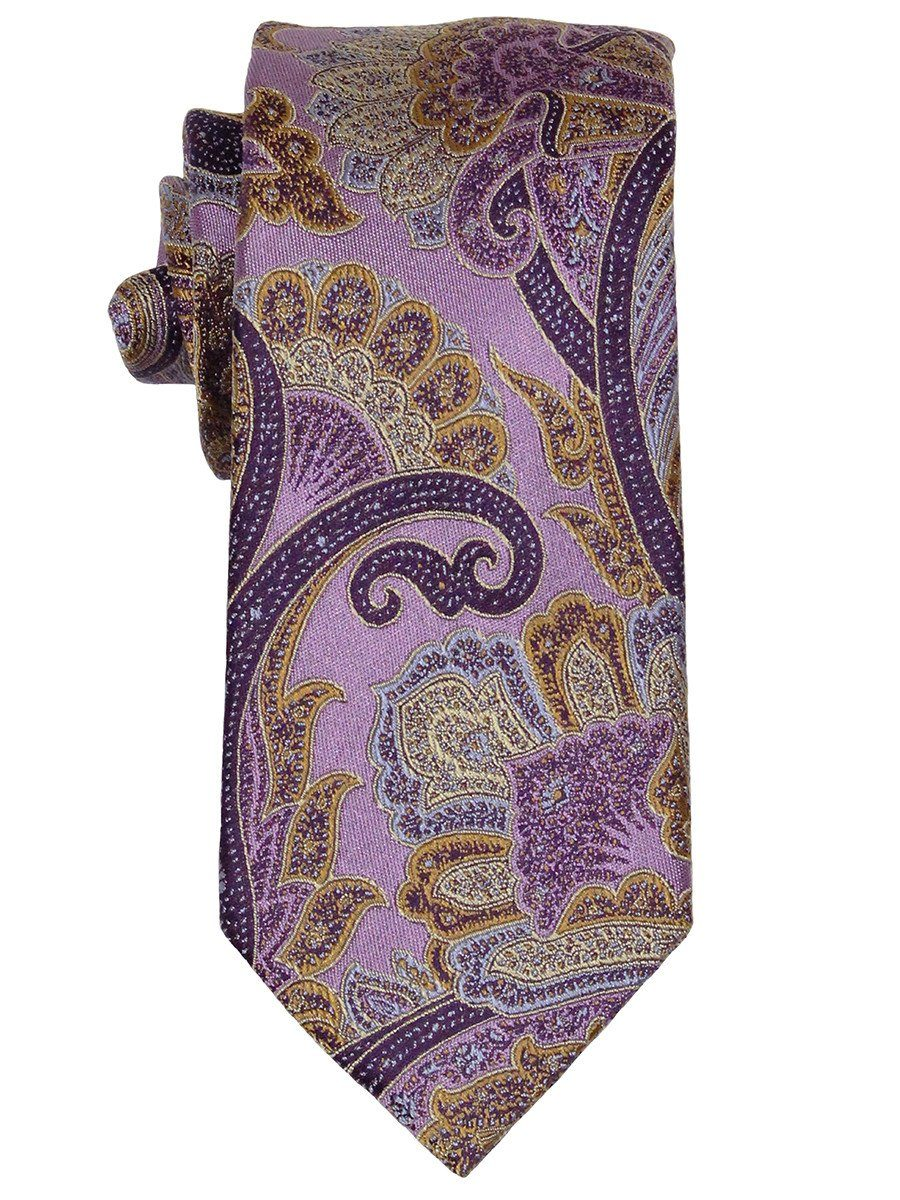 Boy's Tie 21873 Purple/Gold