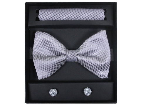 Boy's Bow Tie Box Set 21944 Silver Boys Bow Tie Giorgio Bissoni